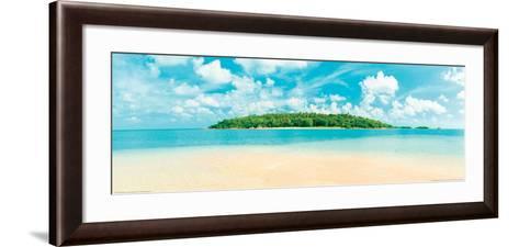Tropical Island - Caribbean Sea--Framed Art Print