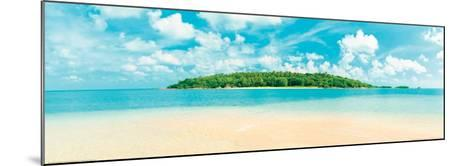 Tropical Island - Caribbean Sea--Mounted Art Print
