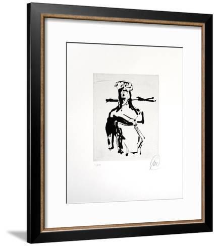 Ohne Titel (Ulysses)-Markus L?pertz-Framed Art Print