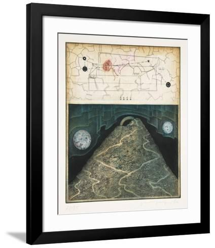 Untitled Suite 1 # 6 Two Moons-Tighe O'Donoghue-Framed Art Print