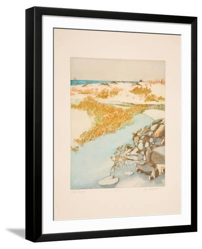 Rocky Shore-Olga Poloukhine-Framed Art Print