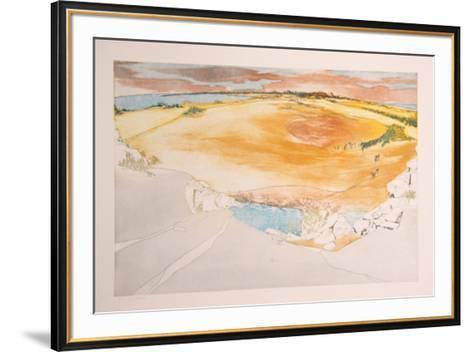 Burning Sands-Olga Poloukhine-Framed Art Print