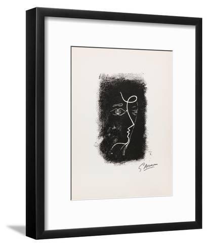 Profil de Femme from Souvenirs de Portraits d'Artistes. Jacques PrŽvert: Le Coeur-Georges Braque-Framed Art Print