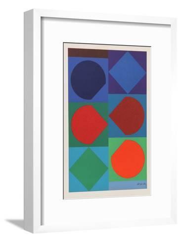 Beryll, from Souvenirs de Portraits d'Artistes. Jacques Prevert: Le Coeur l'ouvre-Victor Vasarely-Framed Art Print