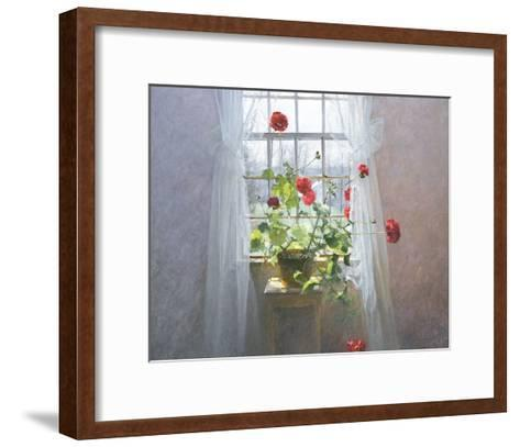 Red Geraniums (small)-Peter ? Poskas-Framed Art Print
