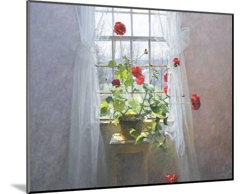 Red Geraniums (small)-Peter ? Poskas-Mounted Art Print