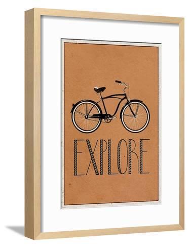 Explore Retro Bicycle Player Art Poster Print--Framed Art Print