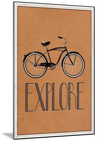 Explore Retro Bicycle Player Art Poster Print--Mounted Poster