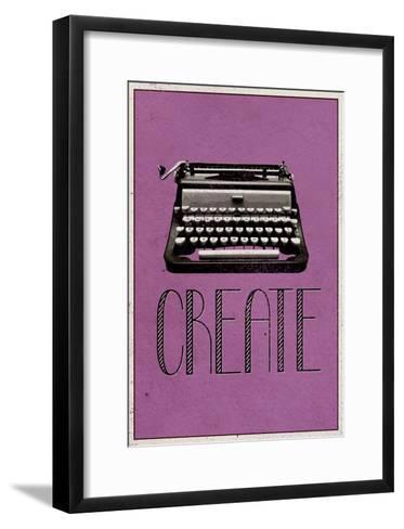 Create Retro Typewriter Player Art Poster Print--Framed Art Print