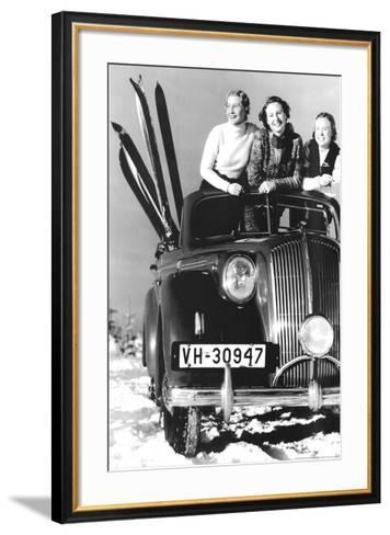 Convertible Girls--Framed Art Print