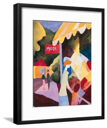 Modefenste-Auguste Macke-Framed Art Print