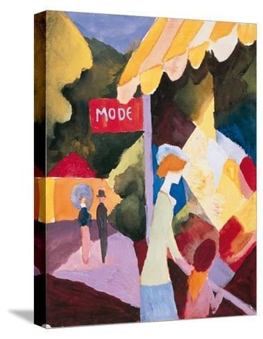 Modefenste-Auguste Macke-Stretched Canvas Print