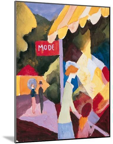 Modefenste-Auguste Macke-Mounted Premium Giclee Print