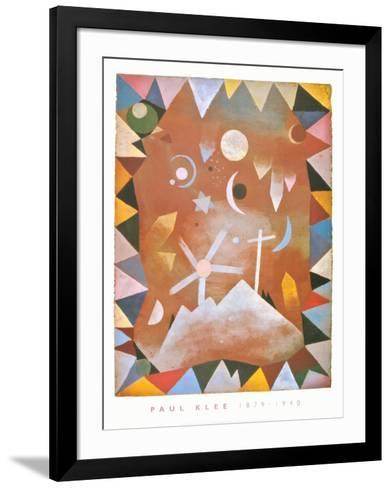 Above the Mountain Peaks-Paul Klee-Framed Art Print