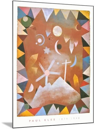 Above the Mountain Peaks-Paul Klee-Mounted Art Print