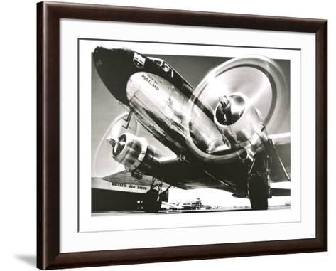 Airplane : City of Portland- Anonymus-Framed Art Print