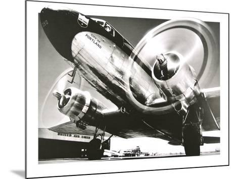 Airplane : City of Portland- Anonymus-Mounted Art Print