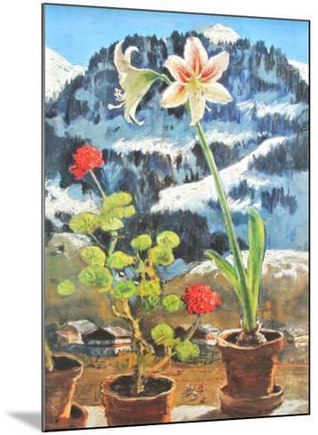 Amaryllis-Alfons Walde-Mounted Art Print