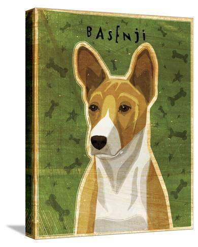 Basenji (Red)-John Golden-Stretched Canvas Print