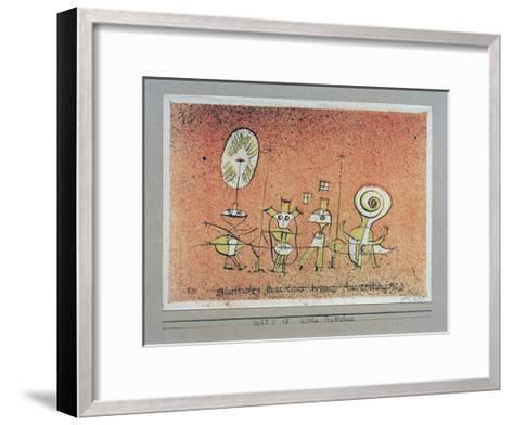 Bright Side Postcard-Paul Klee-Framed Art Print