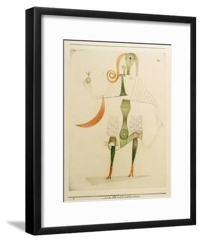 Female Costume Mask-Paul Klee-Framed Art Print