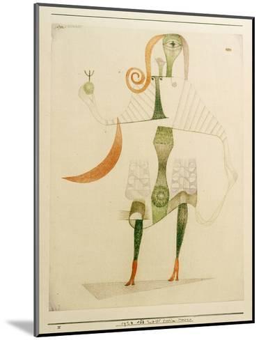Female Costume Mask-Paul Klee-Mounted Giclee Print