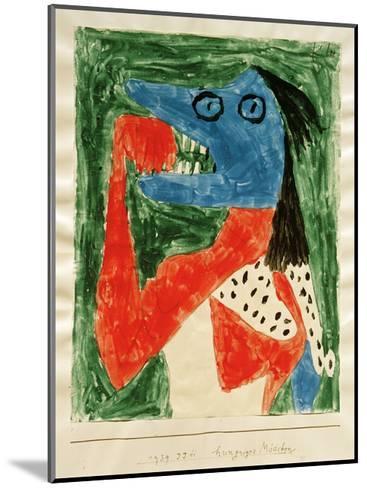 Hungry Girl-Paul Klee-Mounted Giclee Print