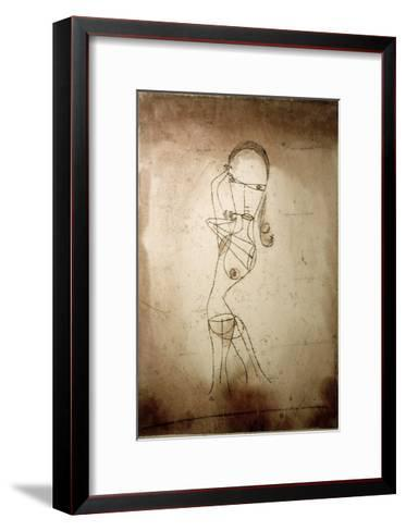 Knowledge, Silence Passing-Paul Klee-Framed Art Print