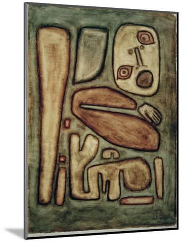 Outbreak of Fear III-Paul Klee-Mounted Giclee Print