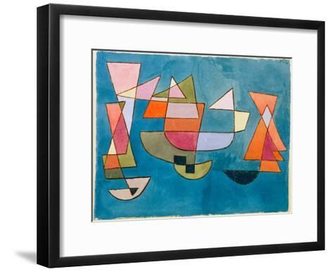 Sailing Boats-Paul Klee-Framed Art Print