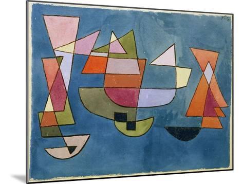 Sailing Boats-Paul Klee-Mounted Giclee Print