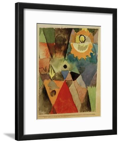 Still Life with Gas Lamp-Paul Klee-Framed Art Print