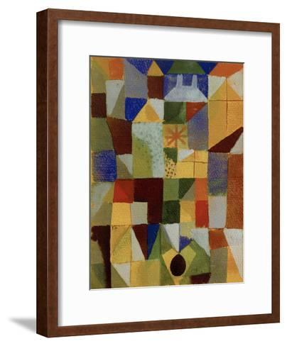 Urban Composition with Yellow Windows-Paul Klee-Framed Art Print