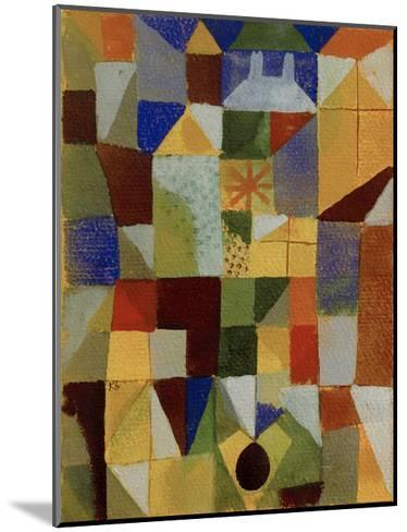 Urban Composition with Yellow Windows-Paul Klee-Mounted Giclee Print