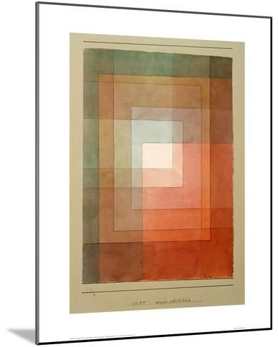 White Framed Polyphonically-Paul Klee-Mounted Giclee Print