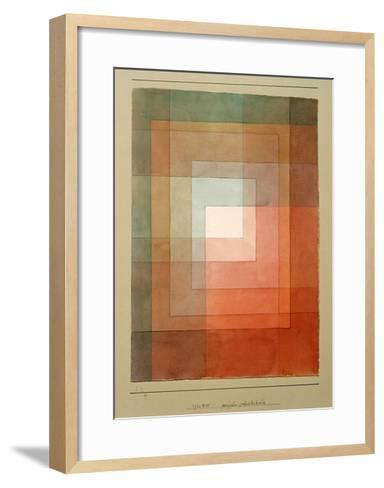 White Framed Polyphonically-Paul Klee-Framed Art Print