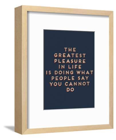 Greatest Pleasure in Life--Framed Art Print