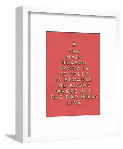 Santa is Jolly--Framed Art Print