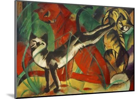 Three cats-Franz Marc-Mounted Giclee Print