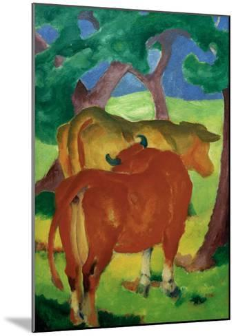 Cows under trees-Franz Marc-Mounted Giclee Print