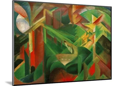 Deer in the Convent Garden-Franz Marc-Mounted Giclee Print