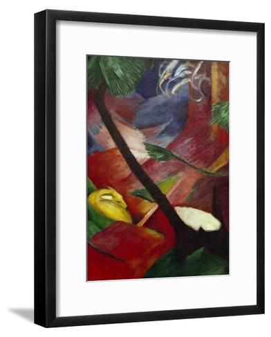 Deer in the Forest II-Franz Marc-Framed Art Print