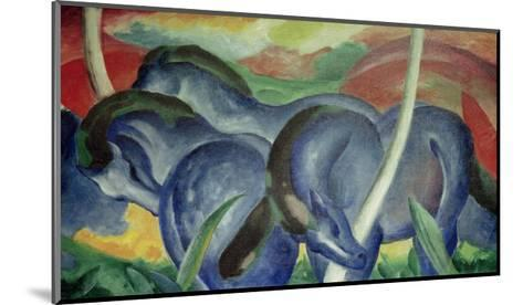 Large Blue Horses, 1911-Franz Marc-Mounted Giclee Print