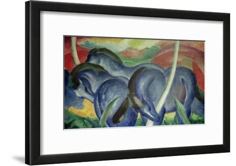 Large Blue Horses, 1911-Franz Marc-Framed Art Print