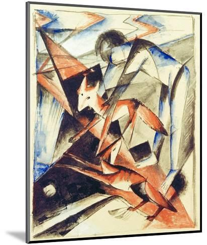 Noah and the fox-Franz Marc-Mounted Giclee Print