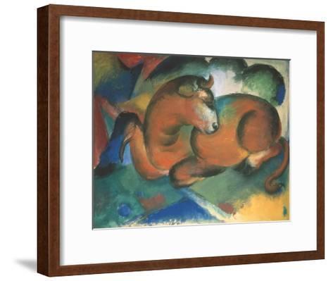 Red bull-Franz Marc-Framed Art Print