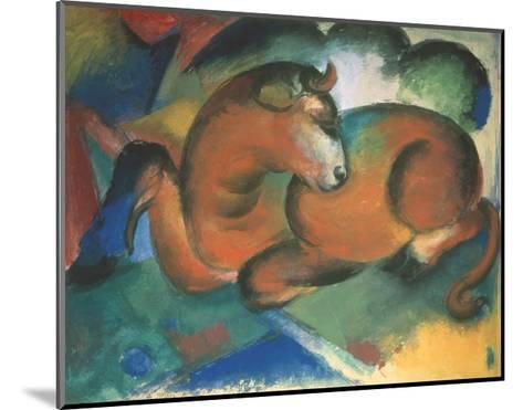 Red bull-Franz Marc-Mounted Giclee Print