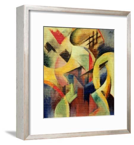 Small composition I-Franz Marc-Framed Art Print