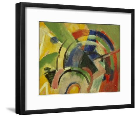 Small composition IV-Franz Marc-Framed Art Print