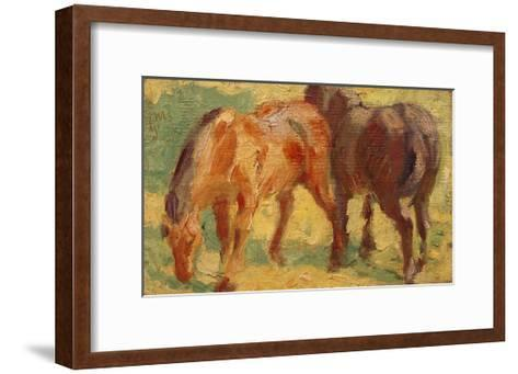 Small Painting of Horses-Franz Marc-Framed Art Print